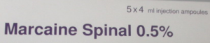 Marcaine Spinal